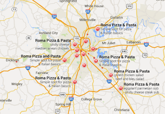 Find a Roma Pizza and Pasta near you.